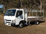 2019  Fuso Canter 515 Wide Cab Duonic Alloy Tray  (White) New Vehicle Thumbnail 1