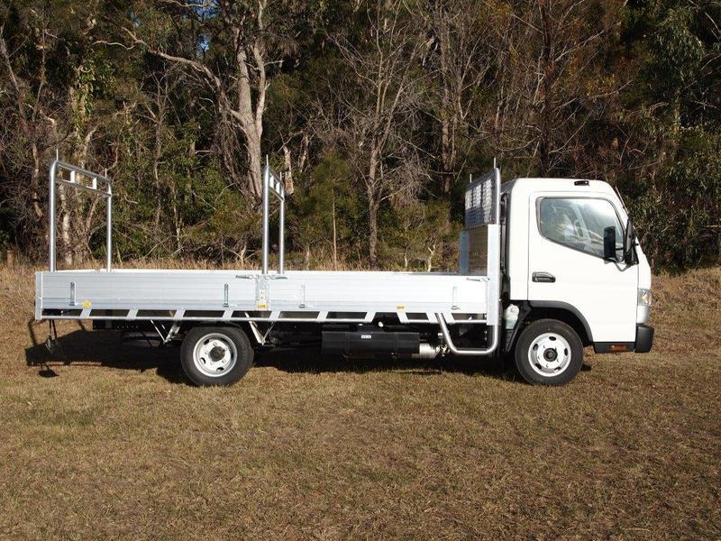 2019  Fuso Canter 515 Wide Cab Duonic Alloy Tray  (White) New Vehicle  Large Picture 4